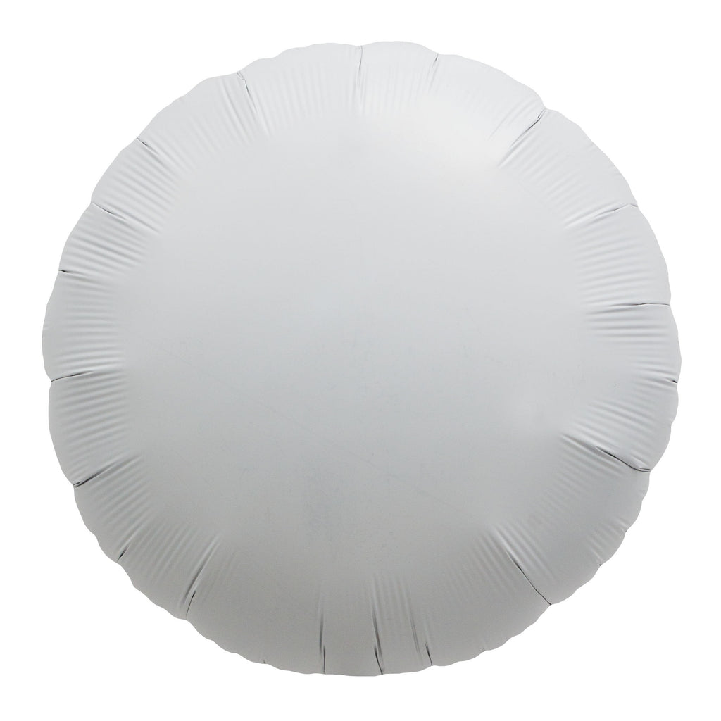 "18"" Foil Round Balloon White"
