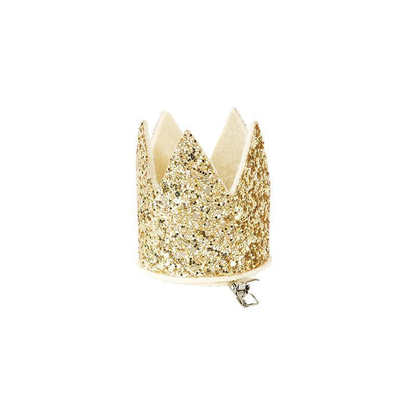 Mini gold princess glitter crown