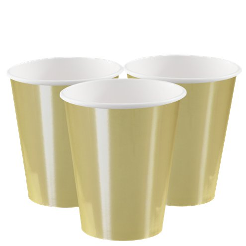 Gold Chrome 12oz Paper Cups