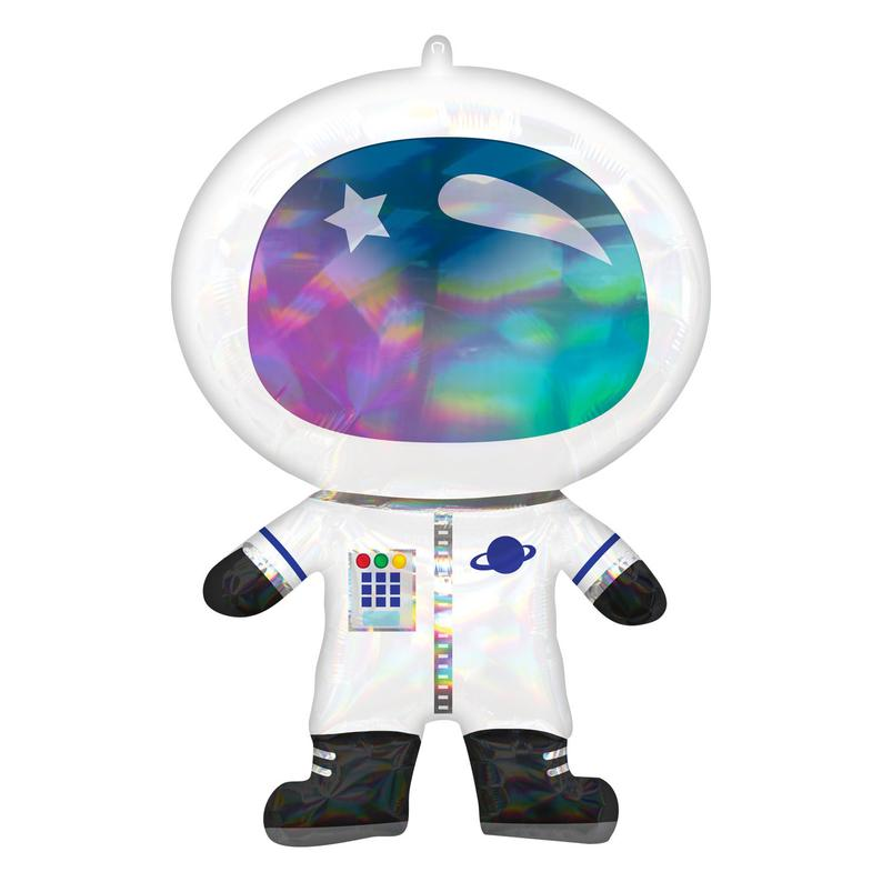 "30"" Holographic Astronaut Foil Balloon"