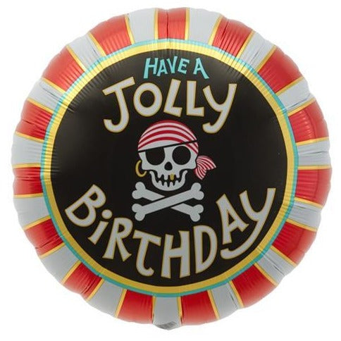 "18"" Jolly Rodger Pirate Happy Birthday Balloon"