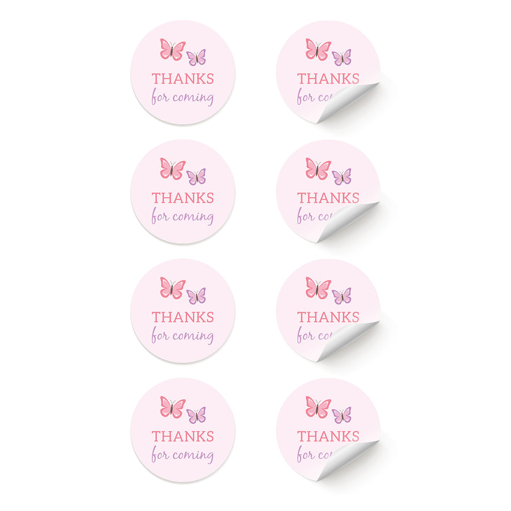 Fairy 'Thanks for coming' Stickers