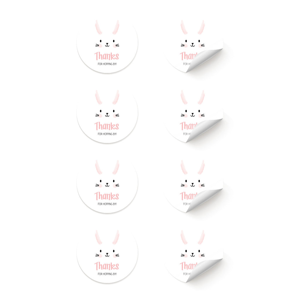 Bunny 'Thanks For Hopping By' Stickers