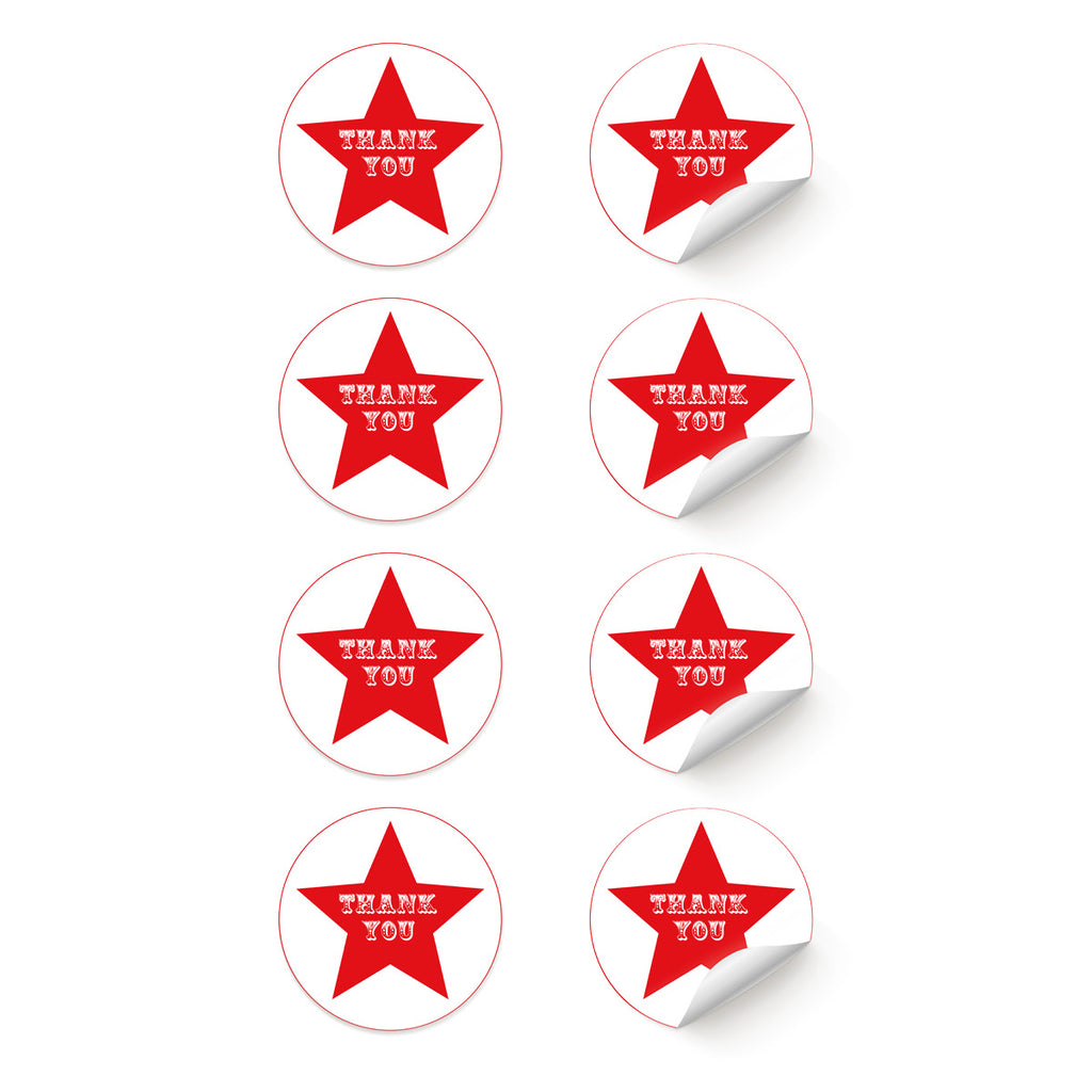 Circus Star 'Thank You' Stickers