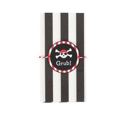 Pirate Party Napkins With Wraps