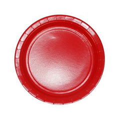 23cm Red Paper Plates