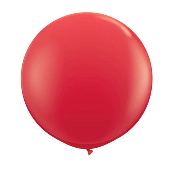 3ft Round RED Latex Balloon