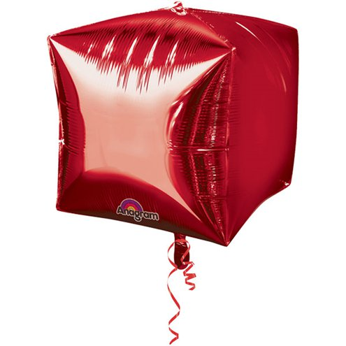 Red Cube Foil Balloon