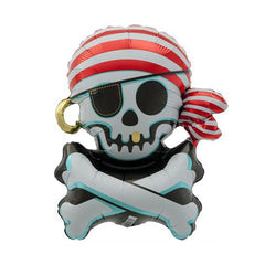 "29"" Skull and Crossbones Foil Balloon"