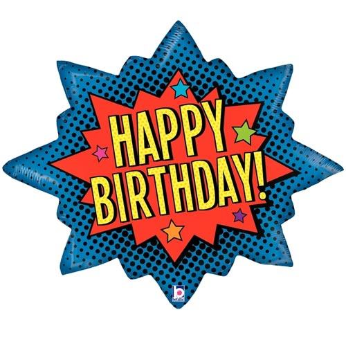 "32"" SUPERHERO BIRTHDAY BURST FOIL BALLOON"