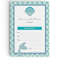 Mermaid Party Invitations