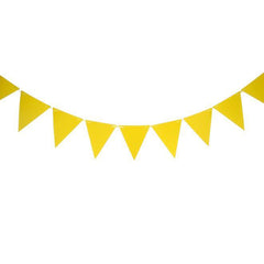 Yellow Paper Flag Bunting