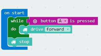 micro:bit Programming - Use a While Loop with a robot