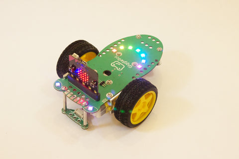 GiggleBot Microbit Robot with Rainbow LEDs