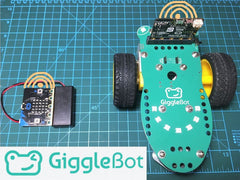 The GiggleBot is an easy-to-use platform that's really great for going straight into robotics without requiring prior knowledge about programming, robotics, mechanics and so on. It is paired with the BBC micro:bit to provide an environment where you can learn coding and grow your knowledge. The micro:bit offers a drag-and-drop coding environment called Makecode. This allows you to program the GiggleBot rover in a Lego-like fashion, which is very entertaining and fun.