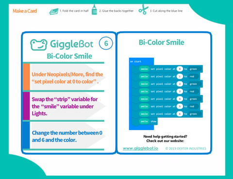 FREE Coding Cards for the GiggleBot