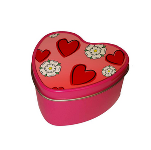 Yorkshire Rose Heart Shaped Candle