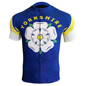 Yorkshire Mens Short Sleeve Cycling Jersey