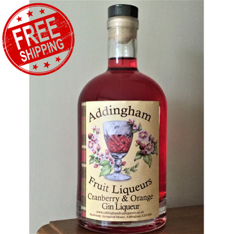 Cranberry & Orange Gin Liqueur