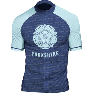 Yorkshire Dialect Mens Short Sleeve Cycling Jersey