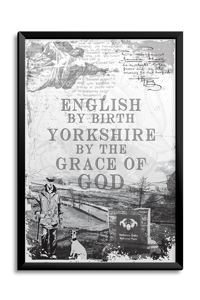 Yorkshire By The Grace Of God A3 Poster
