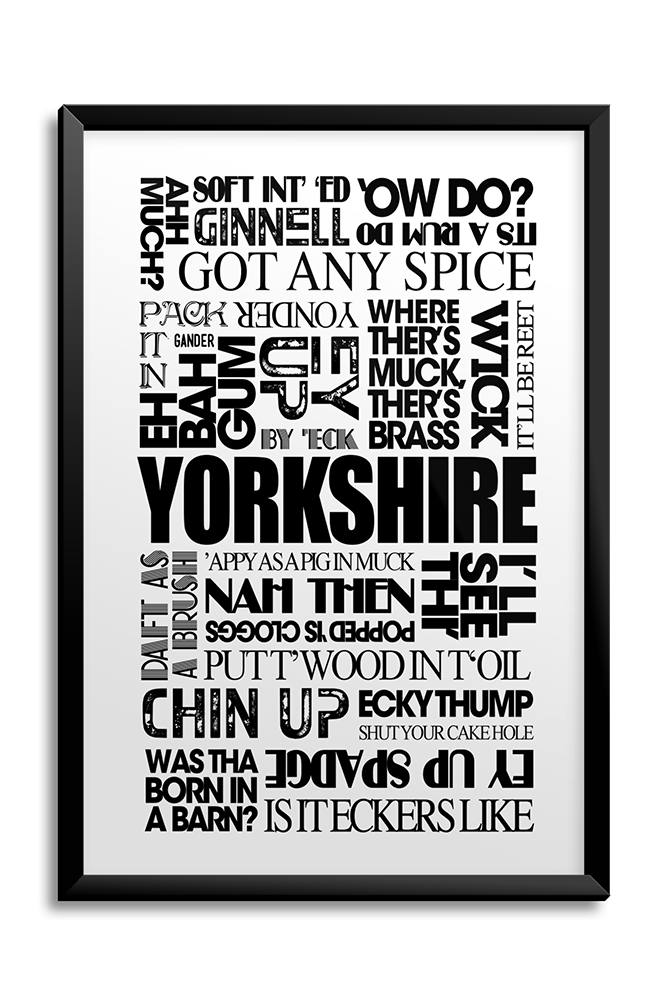 Yorkshire Sayings A3 Poster