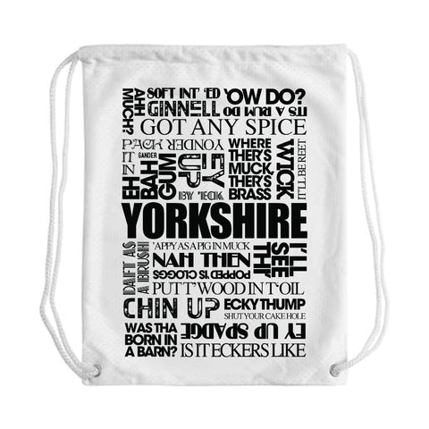 Yorkshire Sayings Draw String Bag