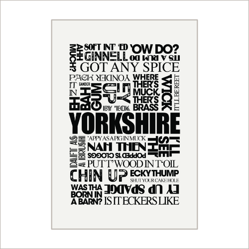 Yorkshire Sayings Tea Towel