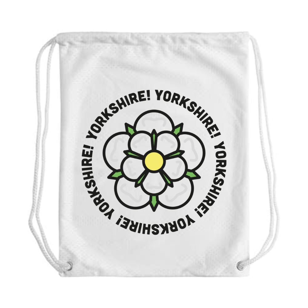 Yorkshire Circle Draw String Bag