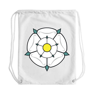 Yorkshire Rose Draw String Bag