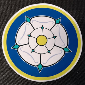 Yorkshire Rose Car Sticker