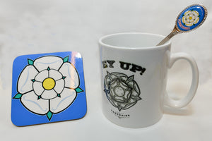 Ey UP Mug, Spoon And Coaster