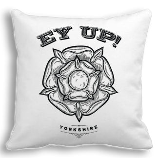 Ey Up Yorkshire Rose Cushion