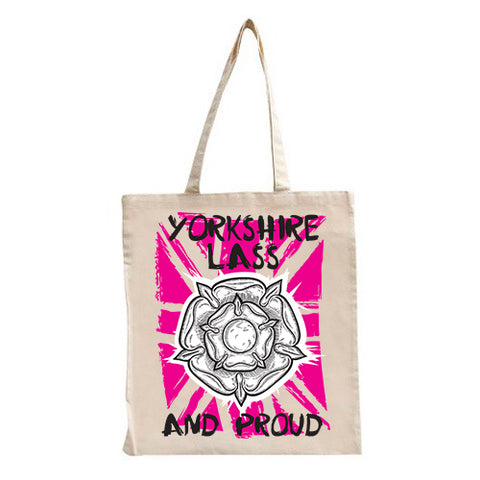 Yorkshire Lass & Proud Tote Bag