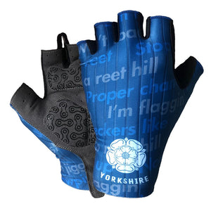 Yorkshire Dialect Mens Gel Cycling Gloves