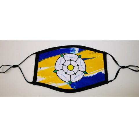Yorkshire Face Mask (Blue And Yellow)