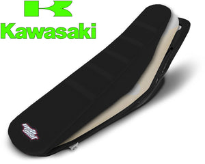 Kawasaki Complete Ribbed Seat (All Black)