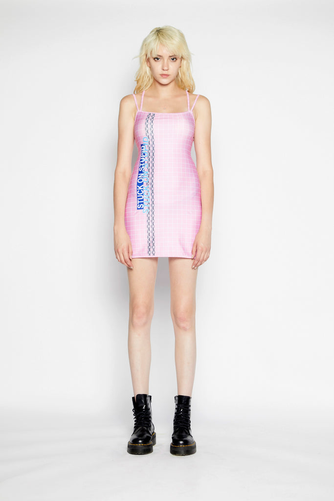 Stuck on stupid mini dress (Pink)