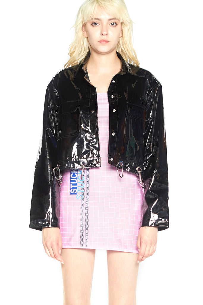 Stuck on stupid VAPORWAVE Vinyl Jacket