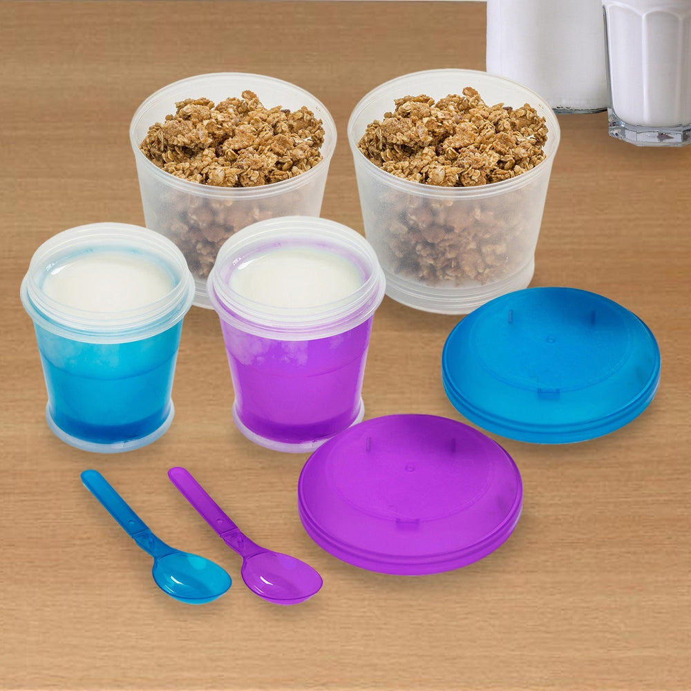 Cereal-To-Go Cup Container Kitchen Candid Report