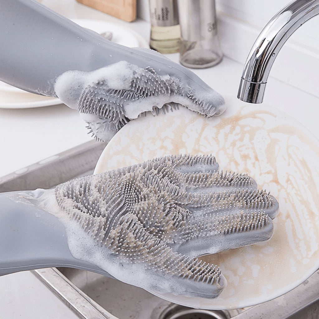Dishwashing Scrub Gloves Kitchen Candid Report