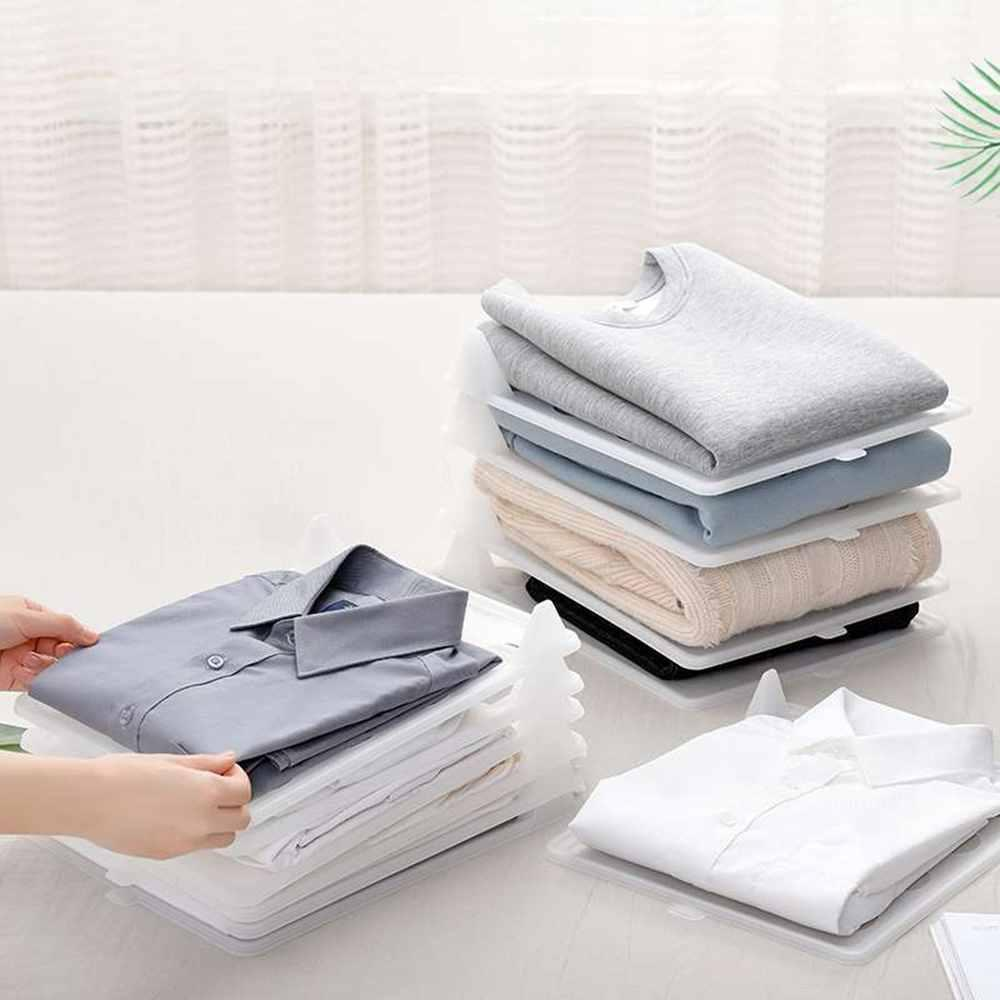 Fold & Stack Clothes Organizer Household Candid Report