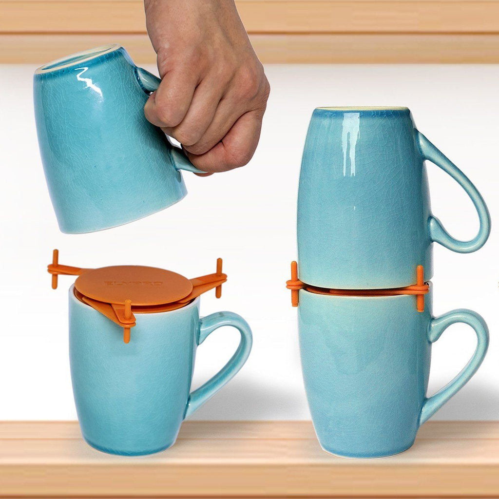 Mugs Stacker & Coaster Set Kitchen Candid Report