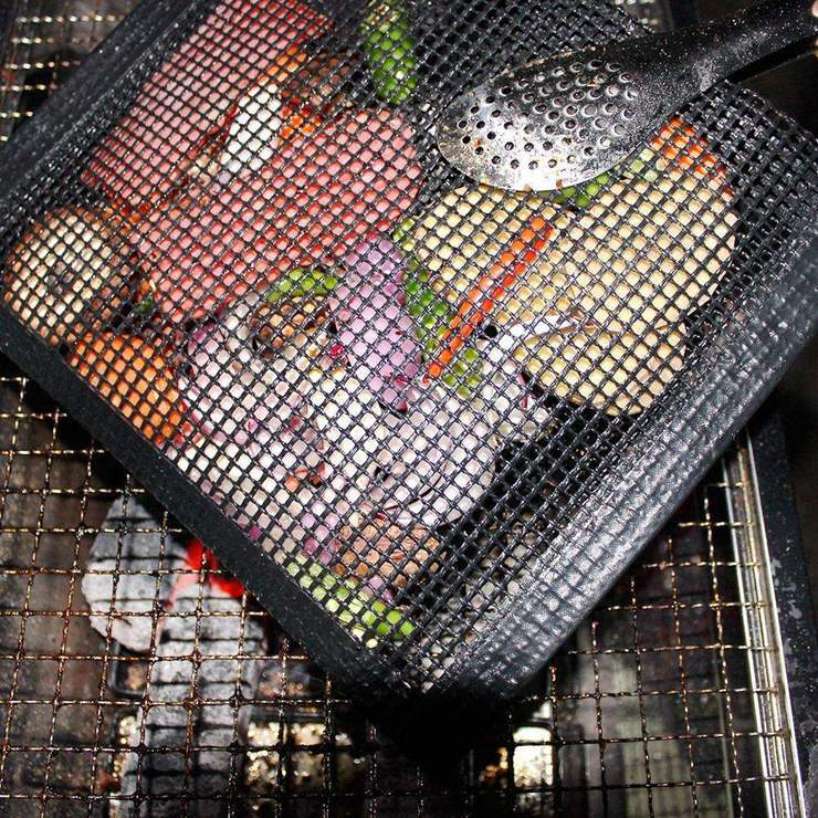 Non-stick Mesh BBQ Grilling Bag Kitchen Candid Report