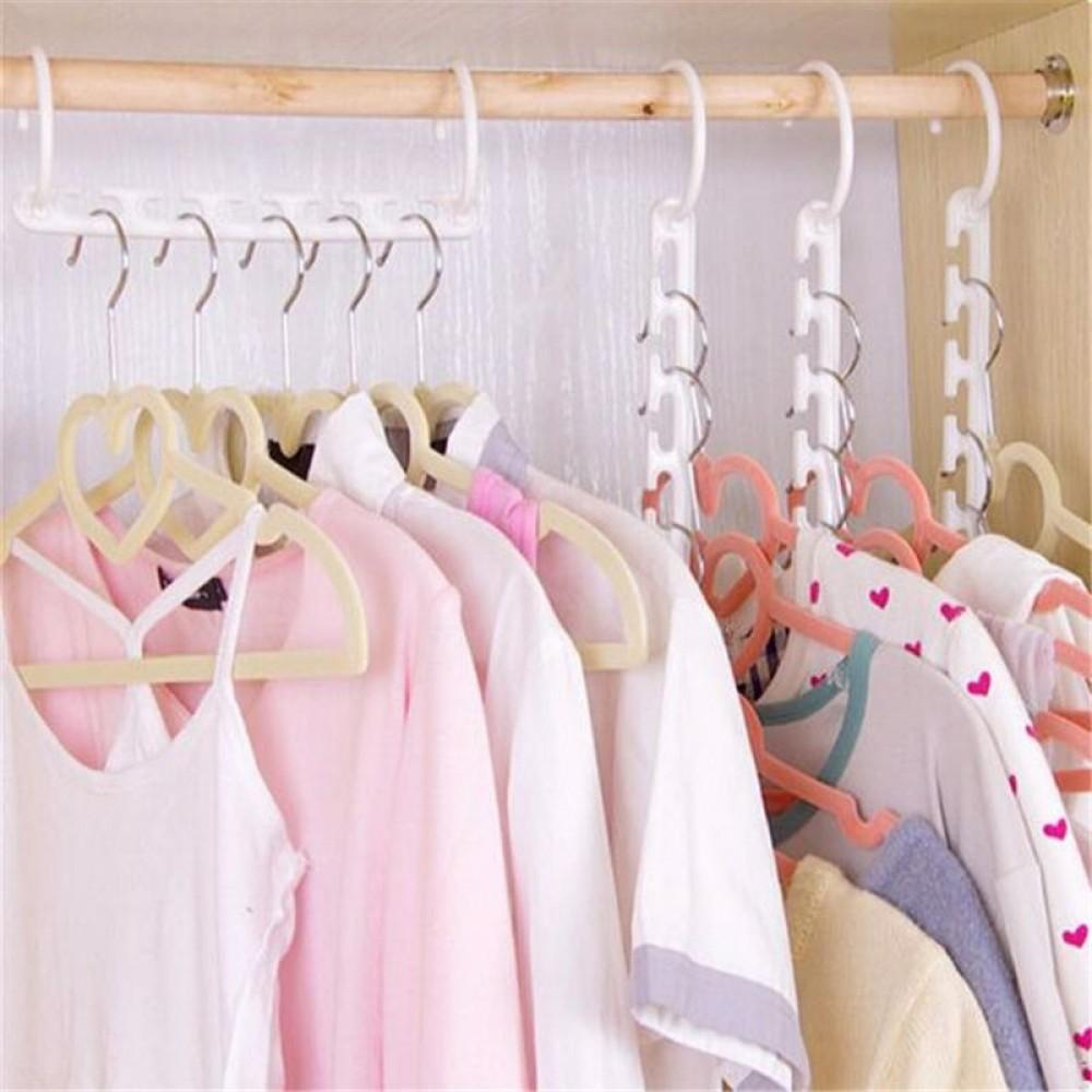 Space Saving Clothes Organizer Hanger Household Candid Report