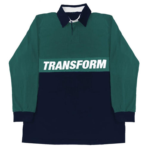 TRANSFORM THE EATON RUGBY SHIRT TEAL/ NAVY