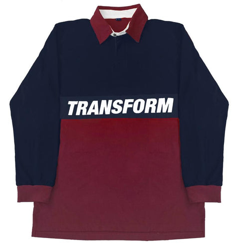 TRANSFORM THE EATON RUGBY SHIRT NAVY/ RED