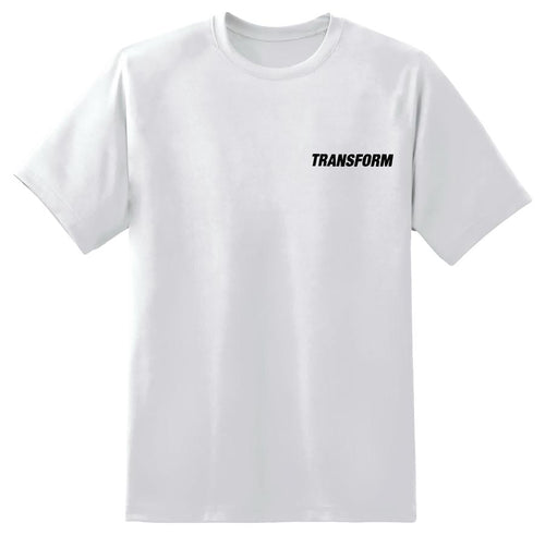 TRANSFORM THE FAST TEXT TEE WHITE