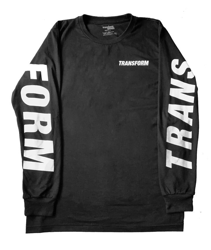 TRANSFORM THE FAST TEXT TEE LS BLACK