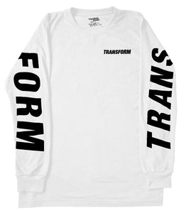 TRANSFORM THE FAST TEXT TEE LS WHITE